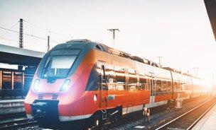 Ein Regionalexpress der Deutschen Bahn
