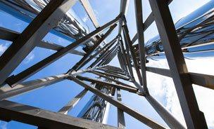 Eine freistehende Stahlkonstruktion